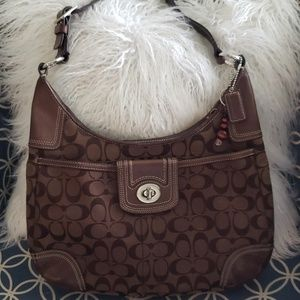 Coach bag purse brown logo